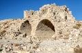 Ruined castle shobak in jordan on a sunny day Stock Images