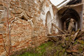 Ruined church in castilla y leon valladolid spain Royalty Free Stock Images