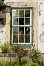Ruined church window Royalty Free Stock Photography