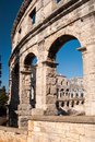 Ruined Colliseum in Pula, Croatia Royalty Free Stock Photo