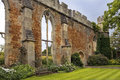 Ruined great hall by the bishops palace somerset england picturesque ruins Stock Images