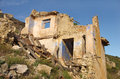 Ruined house and abandoned in spain Stock Photography
