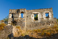 Ruined house from Kayakoy, Fethiye Stock Photography