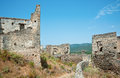 Ruined house from kayakoy fethiye ghost city turkey Royalty Free Stock Photography