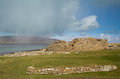 Ruined iron age broch of gurness ancient settlement on orkney s mainaland Stock Images