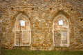 Ruined Monastery Windows Stock Image