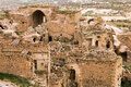 Ruined old city in cappadocia turkey Royalty Free Stock Photography