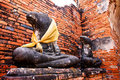 Ruined Old Temple of Ayutthaya, Thailand, Royalty Free Stock Photos