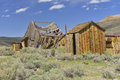 Ruined old wooden house at bodie state historic park california us Stock Photo