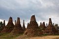 Ruined pagodas in samkar on inle lake shan state myanmar group of ancient Stock Photos
