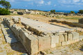 The ruined sanctuary famous of aphrodite stoods at palaipafos or old pafos paphos at kouklia village cyprus Stock Image
