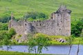 A ruined scottish castle in argyleshire on the shores of loch awe Stock Photography