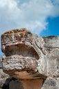 Ruined statue of Kukulcan at Venus Platform in Chichen Itza Royalty Free Stock Photo