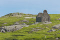 Ruined stone church. Dalkey island. Ireland Royalty Free Stock Photos
