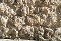 Ruined stone of old wall Royalty Free Stock Photo