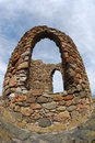 Ruined tower a view of an old victorian era stone on the elie coast Stock Image