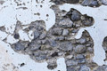 Ruined wall grunge with stones background Stock Photo