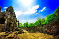 Ruines cambodgiennes de temple Photo libre de droits