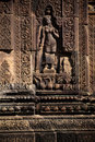 Ruines d'Angkor Wat de temple de Banteay Srei, Cambodge Photo libre de droits