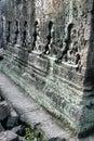 Ruines d'Angkor Wat de temple de Banteay Srei, Cambodge Photos libres de droits
