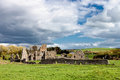 Ruins of the abbey in Ireland. Royalty Free Stock Photo