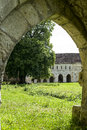 Ruins of Abbey in Normandy Stock Photography