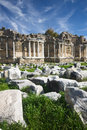 Ruins agora side library antalya turkey Stock Photography