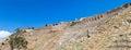 Ruins of amphitheater in pergamon turkey Stock Photos