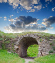 Ruins of an ancient arch Royalty Free Stock Image