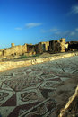 Ruins of ancient buildings at Paphos, Cyprus. Royalty Free Stock Photo