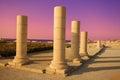Ruins of ancient city caesaria israel Stock Photo
