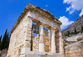 Ruins of the ancient city Delphi, Greece Stock Photo