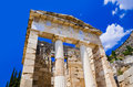 Ruins of the ancient city Delphi, Greece Royalty Free Stock Photography