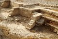 Ruins of ancient city Jericho in Israel Royalty Free Stock Photo