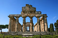 Ruins ancient city paestum italy Royalty Free Stock Images