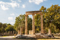 Ruins of the ancient Greek city of Olympia, Peloponnese Royalty Free Stock Photo
