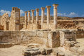 Ruins of the ancient Greek and Roman city of Paphos Royalty Free Stock Photo