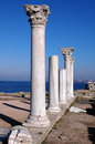 Ruins of ancient greek temple Royalty Free Stock Photo