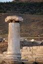 Ruins of ancient hierapolis pamukkale turkey at sunset Stock Image