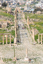 Ruins of the ancient jerash the greco roman city of gerasa in modern jordan amman march Royalty Free Stock Photography
