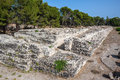 Ruins of ancient Roman ampheteater in Syracuse, Sicily