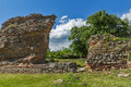 Ruins of ancient Roman fortifications in Diocletianopolis, town of Hisarya, Bulgaria Royalty Free Stock Photo