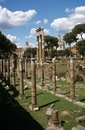 Ruins of the ancient Roman Forum in Rome, Italy. Stock Photo