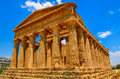 Ruins of ancient temple in Agrigento, Sicily Royalty Free Stock Photo