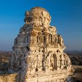 Ruins of the ancient temple in hampi karnataka india Stock Photography
