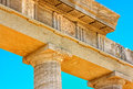 Ruins of ancient temple in Lindos on Rhodes Island, Greece Royalty Free Stock Photo