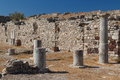 Ruins of the Ancient Thira town, Santorini island Royalty Free Stock Photo