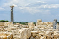 Ruins of ancient town on cyprus kourion Royalty Free Stock Images