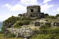 Ruins ancient in tulum mexico Royalty Free Stock Image