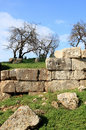 Ruins of an ancient wall, Syria Stock Photography